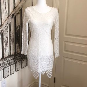 Lovers + Friends, Medium, White Lace Dress NWT